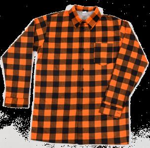 Koszula pomarańczowa szachownica L
